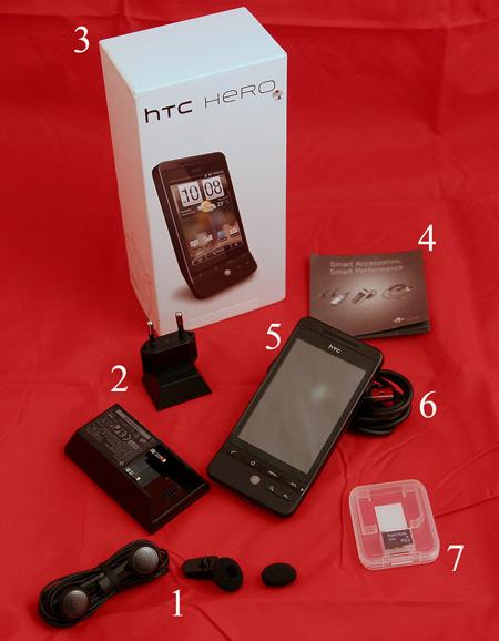Комплектация HTC Hero