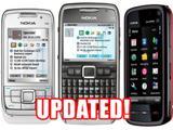 Новые прошивки доступны для смартфонов Nokia E66, E71 и 5800 XpressMusic